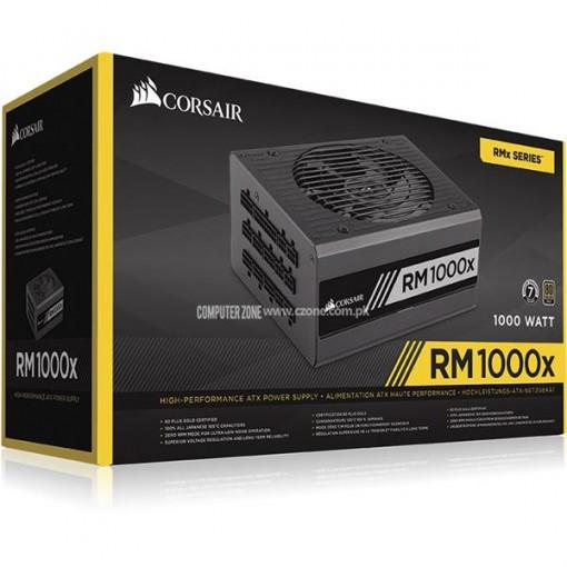 Corsair RMx Series™ RM1000x — 1000 Watt 80 PLUS® Gold Certified Fully Modular PSU - CP-9020094-UK