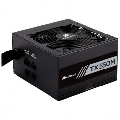 Corsair TX-M Series TX550M — 550 Watt 80 Plus Gold Certified PSU (CP-9020133-UK)