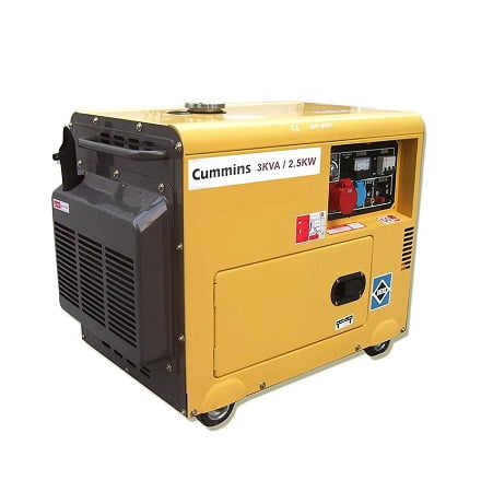 CUMMINS 3KVA Soundproof Petrol & Gas Generator
