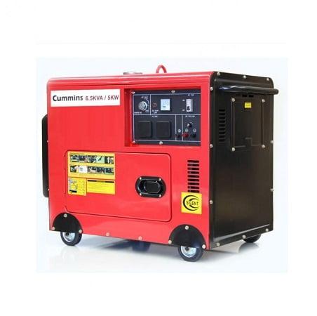 Cummins Soundproof Petrol & Gas Generator 6.5KVA