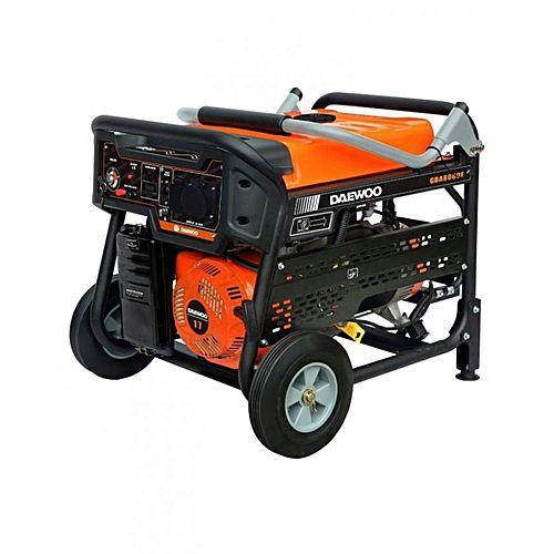 Daewoo GDA8000E-New – 7.5 kW – Petrol & Gas Generator – Electric Start – Latest Model