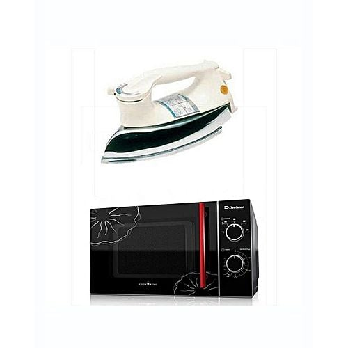 Dawlance MD7 Microwave Oven With free Heavy Duty Iron Black & White Black and White