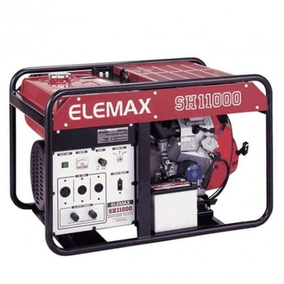 Elemax 10 kW Petrol Generator with Genuine Battery SH11000 – Red