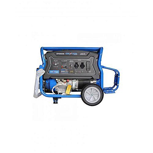 Euro Power Euro Power Petrol Generator 6.3 KW – EP-6800E -Black & Blue