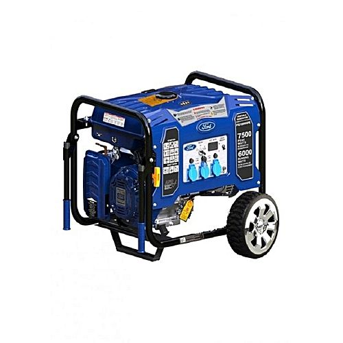 Ford – 7.5 KW – Self Start – Petrol & Gas Generator FG9250PE USA Brand – Blue