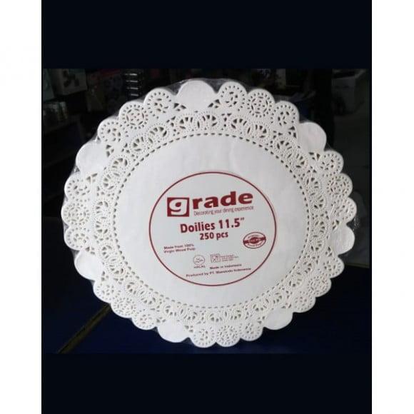 "Grade Cake Doilies White 11.5"" 250pcs"