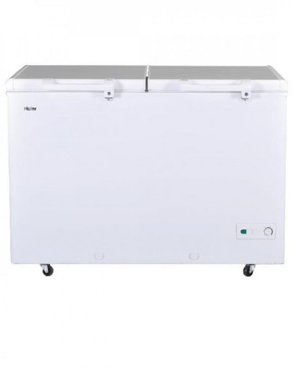 Haier HDF-385H - Double Door Deep Freezer - 385 L - White