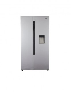 Haier Hrf-618WSs - Side-By-Side No Frost Refrigerator - 495 L - Silver - WITH WATER DISPANSOR