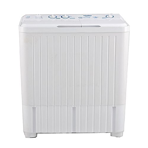 Haier HWM100BS Semiautomatic Top Load Washing Machine 10 kg Milky White & Grey