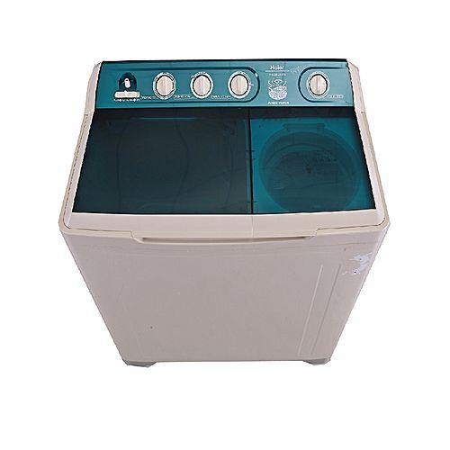 Haier HWM120BS Semiautomatic Top Load Washing Machine 12 kg Milky White & Grey
