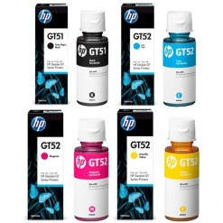 HP GT51 GT52 4 Color Set Genuine Official Ink Bottle For GT 5820 5810 410 310