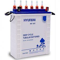 HYUNDAI HBT185T Deep Cycle Tubular Battery White