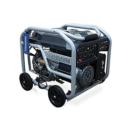HYUNDAI HGS2500 Generator – 2.5 KVA – Black & Silver