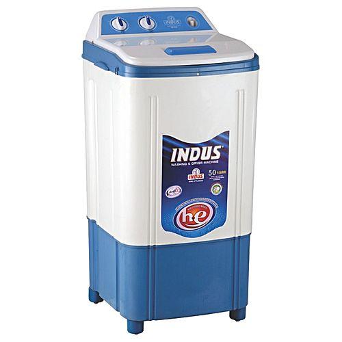 Indus Washing Machine Plastic Body-White Blue