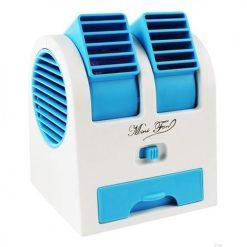 KBR USB Battery Mini Turbine Dual Purpose Fan in Blue