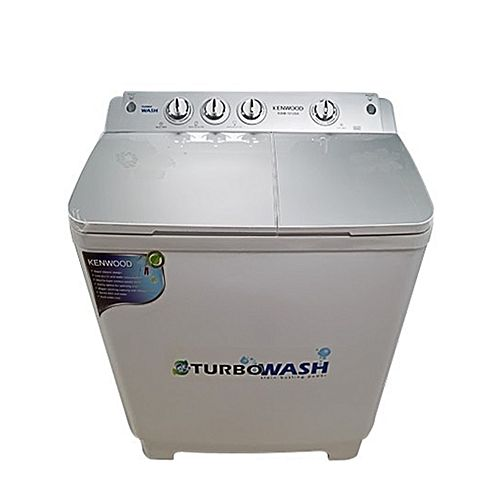 Kenwood KWM1012 Turbo Wash Semi Automatic Washing Machine 10 kg Top Glass White