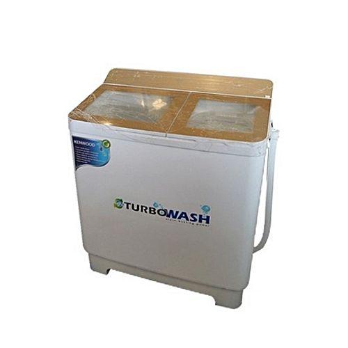 Kenwood KWM1015 Turbo Wash Semi Automatic Washing Machine 10 kg Top Glass White