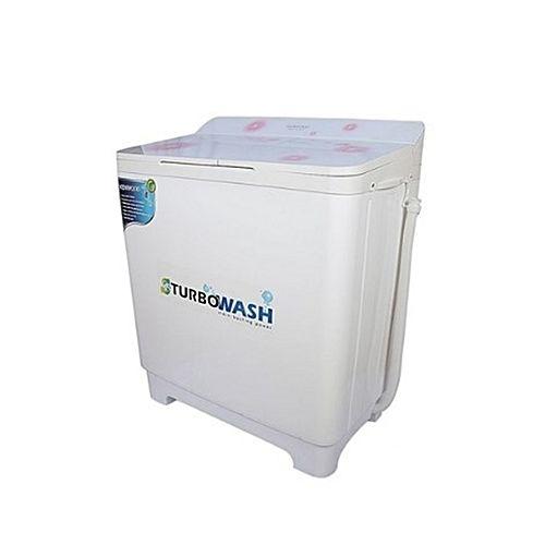 Kenwood KWM1016 Turbo Wash Semi Automatic Washing Machine 10 kg Top Glass White