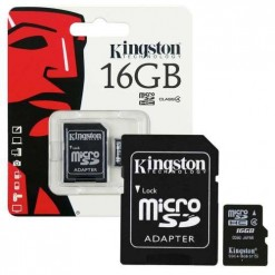 Kingston Micro SD 16GB Card Class10