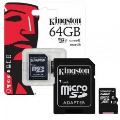 Kingston Micro SD 64GB Card Class10