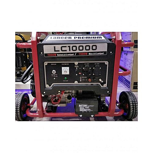 Lancer PREMIUM Petrol & Gas Generator 6.5 kW – LC10000E Red & Black