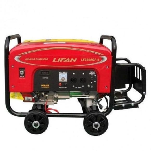 Lifan 6.5 kW Petrol & Gas Generator with Battery & Gas Kit – LF8000GF-4 – Red