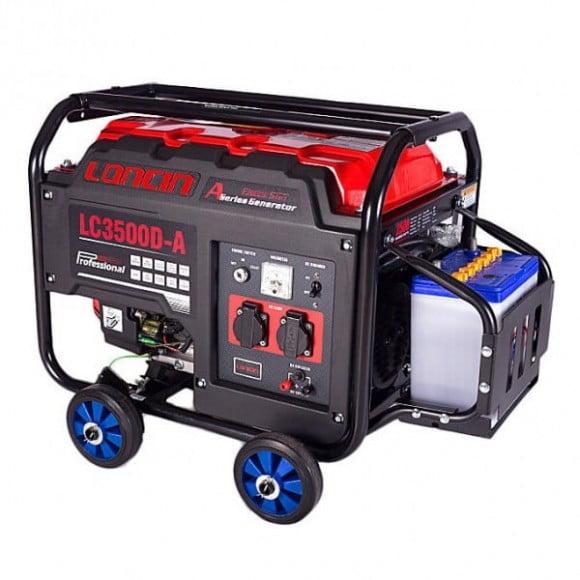 Loncin 2.5 kW Petrol & Gas Generator LC3500DA – Electric Start – Red