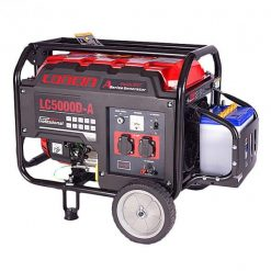 Loncin 3.1 KW Petrol & Gas Generator  LC5000DA – Electric Start – Red