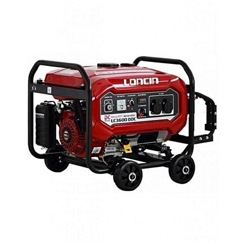 Loncin LC3600DDC – Petrol & Gas Generator with Wheels Kit – 2.5 kW