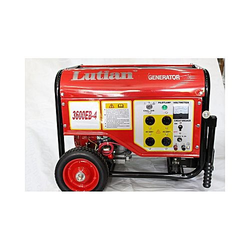 LUTIAN Self Start Gasoline Generator – 2.8 Kw – Lt-3600eb-4 – Red