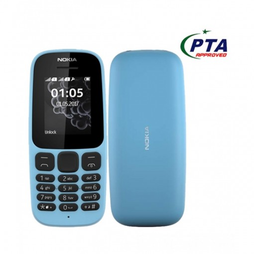 Nokia 105 2017 Dual Sim Blue - Official Warranty