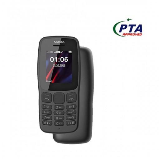 Nokia 106 2018 Dual Sim Black - Official Warranty