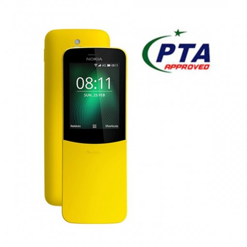 Nokia 8110 2018 4G Dual Sim Yellow - Official Warranty