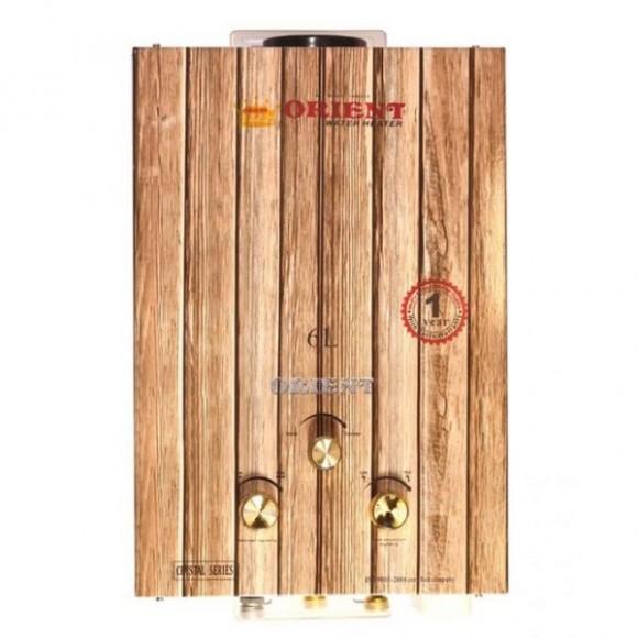 Orient 6 Liters Crystal Wood Natural Gas Geyser 04 HG B