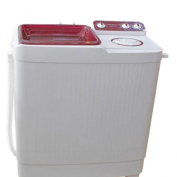 Panatron 9.5KG Twin Tub Semi Automatic Washing Machine PSW-515 White & Red
