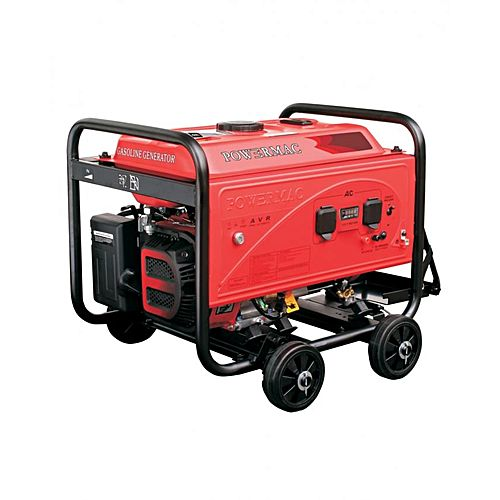 PM9900D – Powermac Petrol Generator – 6500watts(Max.) – Red