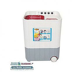 Super Asia SA244 Semi Automatic Twin Tub Washing Machine 8 Kg White & Grey (Brand Warranty)