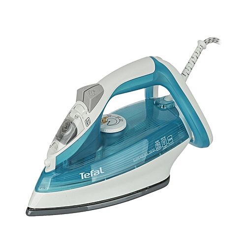 Tefal Super Gliss Steam Iron Fv3830 White & Blue