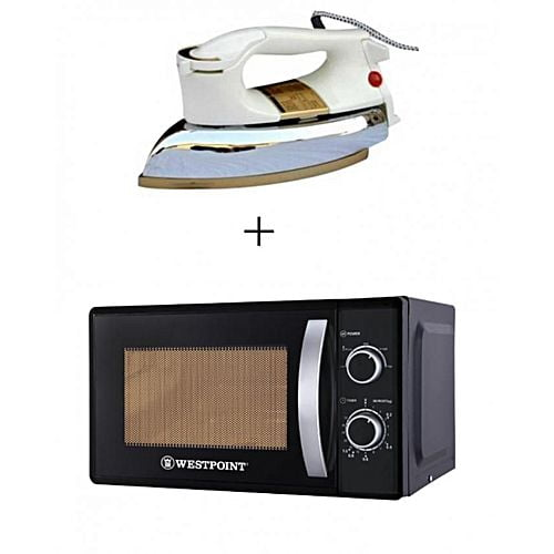 Westpoint Official Pack of 2 Microwave Oven WF823M 20 Liter With Free Dry Iron