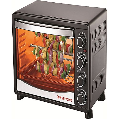Westpoint Official Westpoint WF4500 RKC Convection Rotisserie Oven with Kebab Toaster Grill 1800 Watts Black
