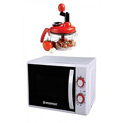 Westpoint Pack of 2 Deluxe Microwave Oven WF822M With Free Handy Chopper Red & White