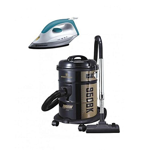 Westpoint Set of 2 WF960 BK Deluxe Vacuum Cleaner & WF282 Deluxe Dry Iron