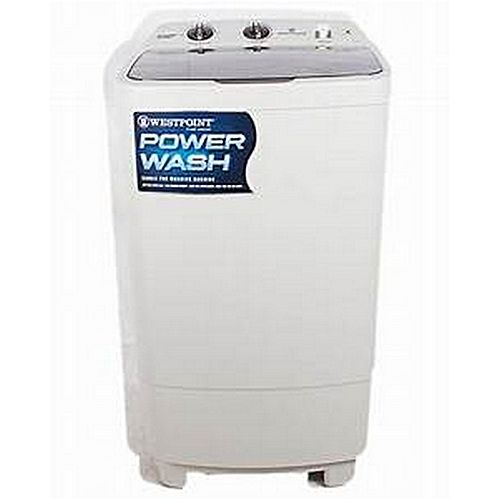 Westpoint Transparent Washing Machine Single Tub OPWF-1017 White