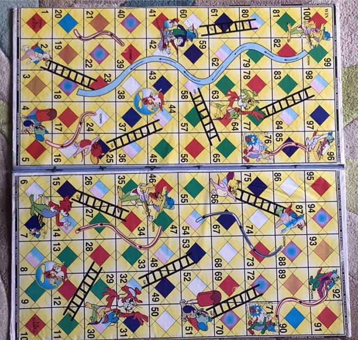 2 In 1 Ludo Board Game - 18 Inch