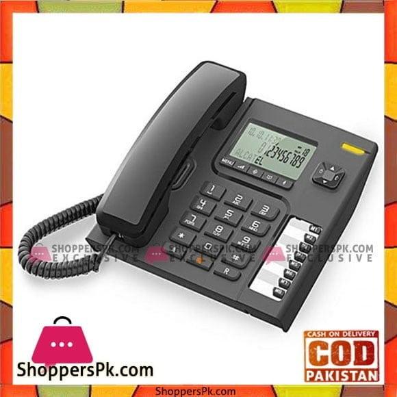Alcatel CLI Corded Telephone Black T76