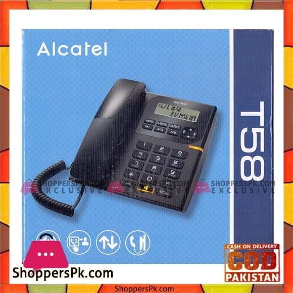 Alcatel T58 EX Landline Phones with Caller ID (Black)