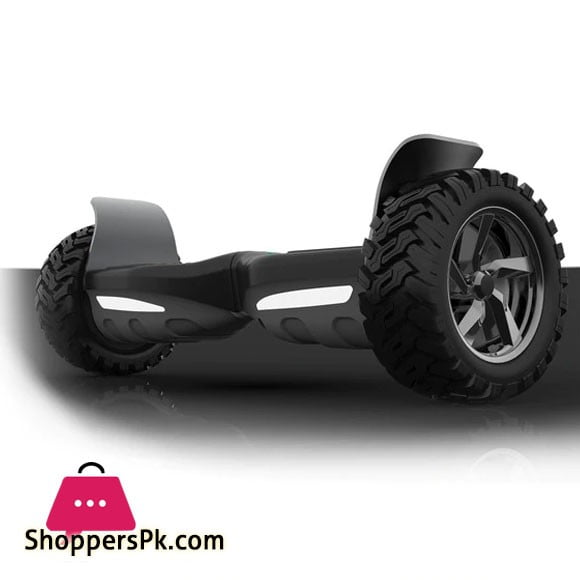 """All Terrain Hoverboard 8.5"""" Big Wheel Off Road Tires Electric Smart Self Balancing with Bluetooth Speakers, LED lights - Black"""