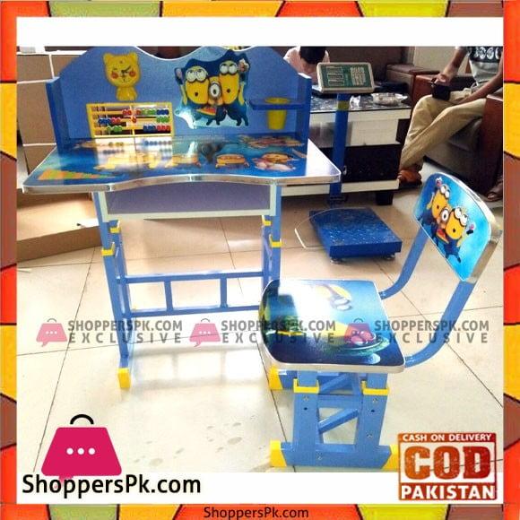 Cartoon Kids' Study Table & chair Set with Minions Theme