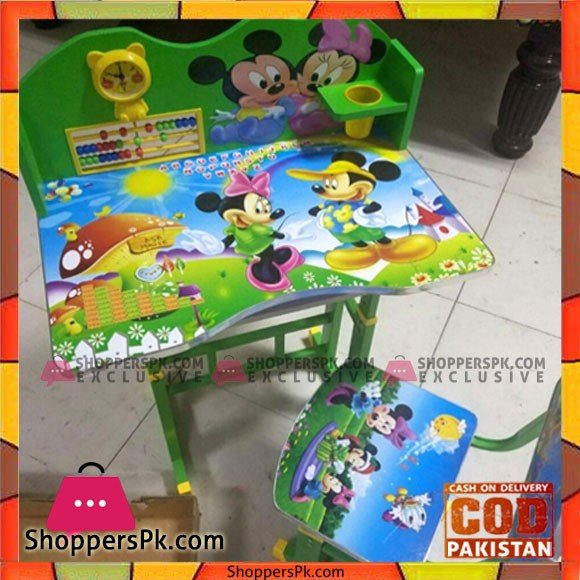 Cartoon Kids' Study Table and chair Set with Mickey Mouse Theme