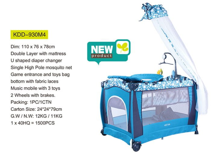 Cool Baby Infant Travel Cot Bed & Baby Play Pen KDD-930M4